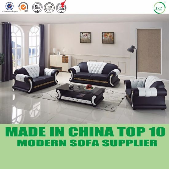 China Modern Luxury French Style Tufted Leather Chesterfield Sofa