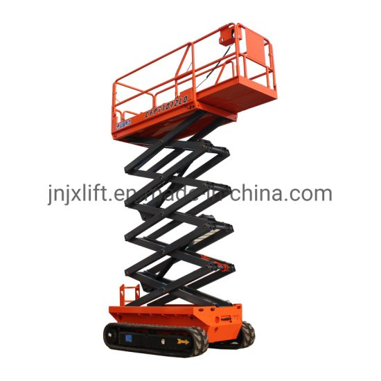 Self Propelled Electric Battery Power on Track Rough Terrain Ground Use Scissor Lift