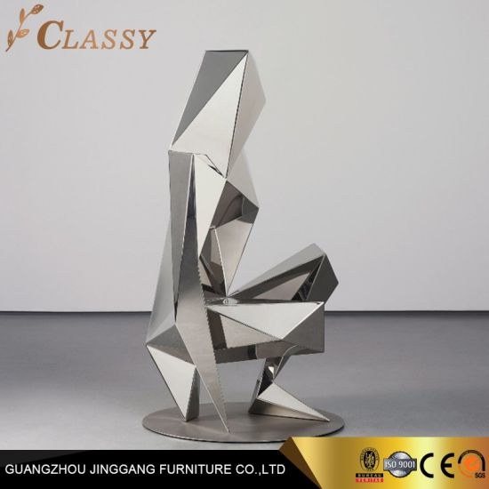 Abstract Modern Art Mirror Polished Stainless Steel Sculpture