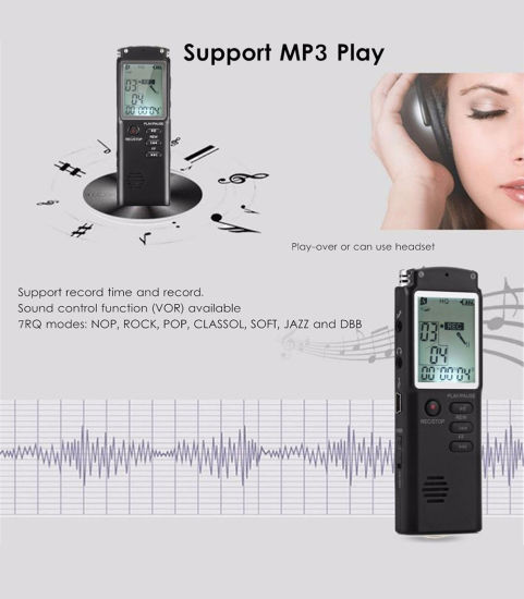 Voice Recorder Pen USB Built-in Microphone MP3 Player Dictaphone Digital Audio Interview Recorder with Var/Vor pictures & photos