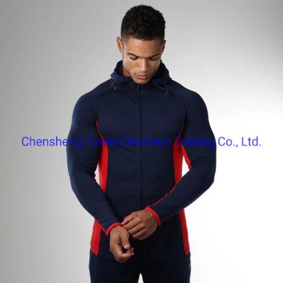 Cotton Zip Hoodie Jacket Mens Plain Cut and Sew Hoodie Wholesale Hooded Sweatshirt