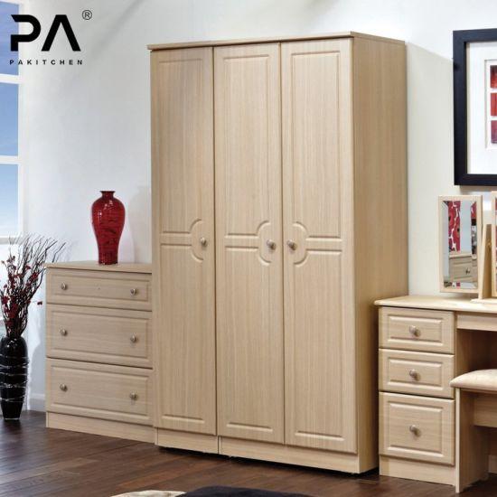 Custom Wooden Wardrobe 3 Door