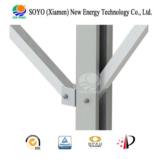 China Solar Ground Pile Single Pole Alumminum & Carbon Steel