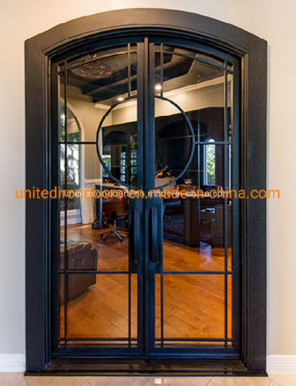 Arch Elegant French Style Iron Entry Door