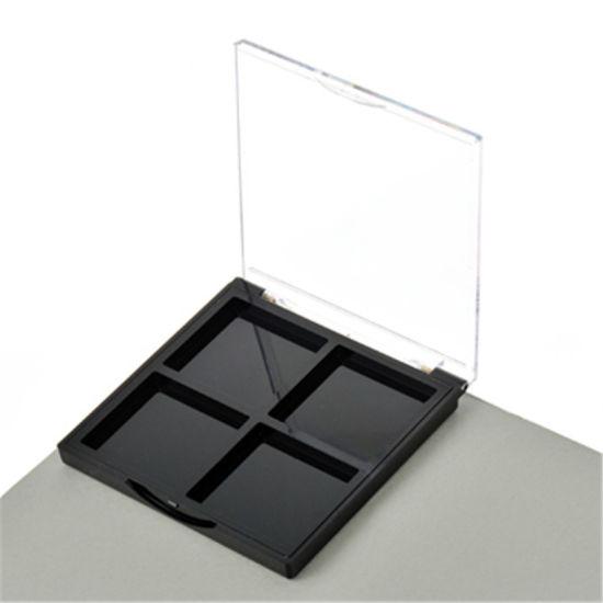 Y094-8 Unique Shape 4 Color Plastic Eyeshadow Palette Case Blush Palette Compact Box Cosmetic Packaging