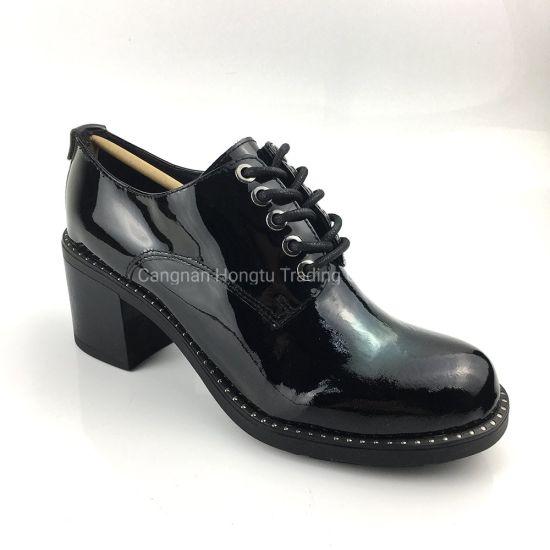 Fashion Designs Women Flat Shoes Ladies Leather Dress Shoes