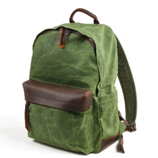 Green Waterproof Canvas Kids Backpack Primary Student School Bag (RS-8003) pictures & photos