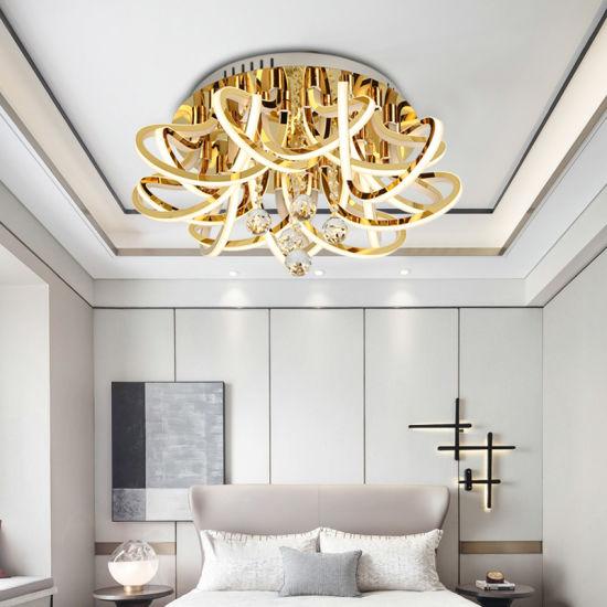 120W K9 Crystal Acrylic Morden LED Ceiling Pendant Lamp