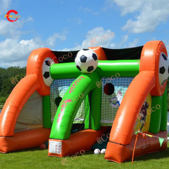 Inflatable Soccer Carnival Game, 5X3m Football Kick Penalty Shootout Game, Soccer Goal Inflatable pictures & photos