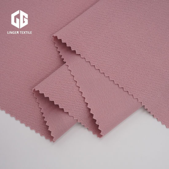 Twill Knitted Fabric Polyester Crepe Twill Fabrics with Spandex