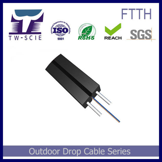 2 Core Outdoor Aerial FTTH Flat Drop Cable