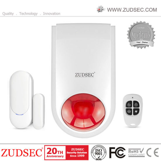 Wireless Flash Siren Spot Security Alarm System for Home Security