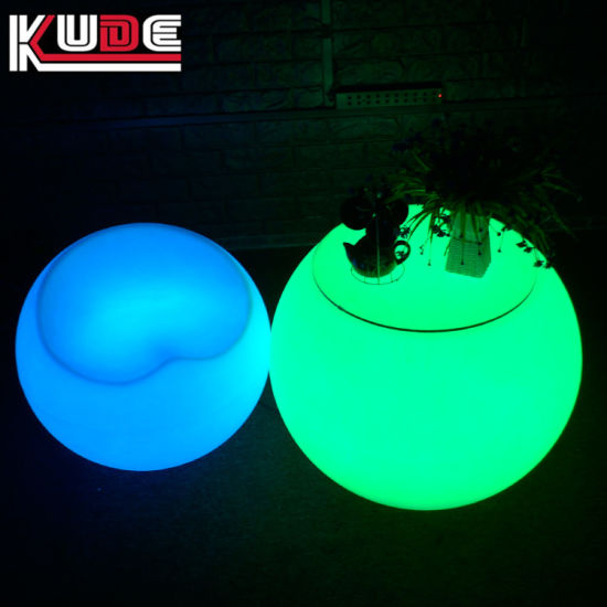Outdoor Table PE Plastic LED Bar Set Outdoor Glowing Furniture