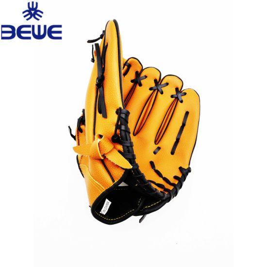 High Quality Custom Design PVC/PU/Cowhide/Pig Skin Adult Kid Kip Leather Baseball Gloves