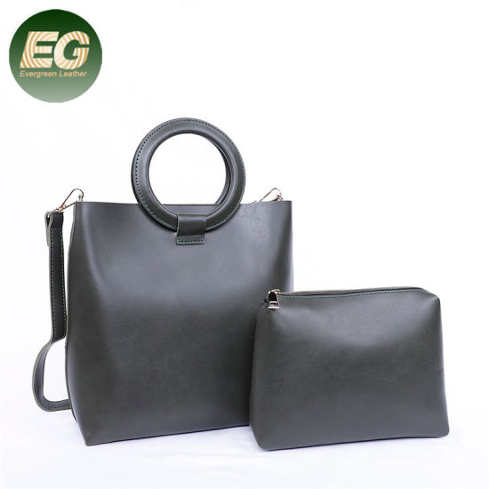 New Fashion Bucket 2 PCS in 1 Set Shoulder Bag Set with Round Handle for  Women Sh775. Get Latest Price 718ff3a1f8eac