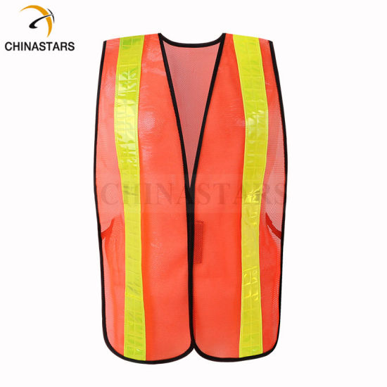 Breathable Mesh Fabric Hi Vis Safety Reflective Vest Clothing with PVC Tape pictures & photos