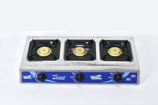 Besse Advanced Design Stainless Steel Gas Cooker with 3 Golden Burners (ZG-3092R)
