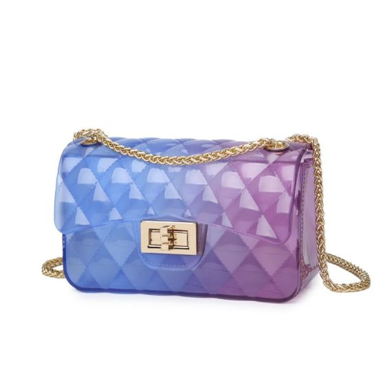 in Stock Fashion Mini Handbags, Wholesale Designer Handbags, Clear Jelly Hand Bag for Lady