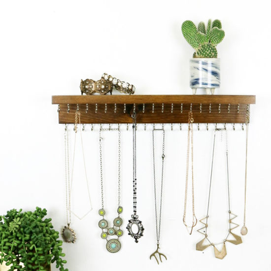 Wood Jewelry Holder Wall Decoration Ring Necklace Jewelry Display