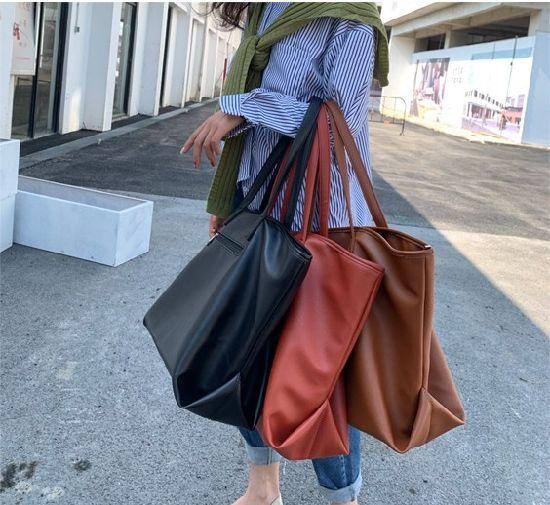 Wholesale Sling Bag Simple Casual Ladies Shoulder Bag Colors Female Tote Shoulderbag