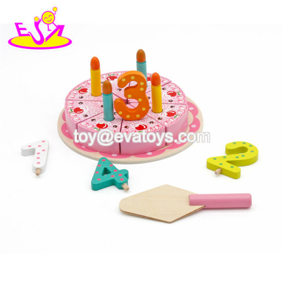 China New Design Lovely Cherry Wooden Toy Birthday Cake For Kids