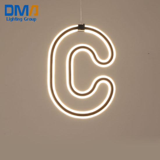 "Patent Design ""C"" Fancy Modern Acrylic LED Hanging Light for Living Room"