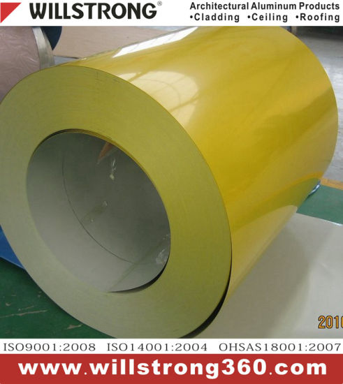 Green Aluminum Coil with PVDF Coating for Exterior Using pictures & photos