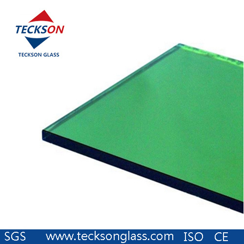Dark Green Color Tinted Glass with Ce & ISO9001 for Building Glass