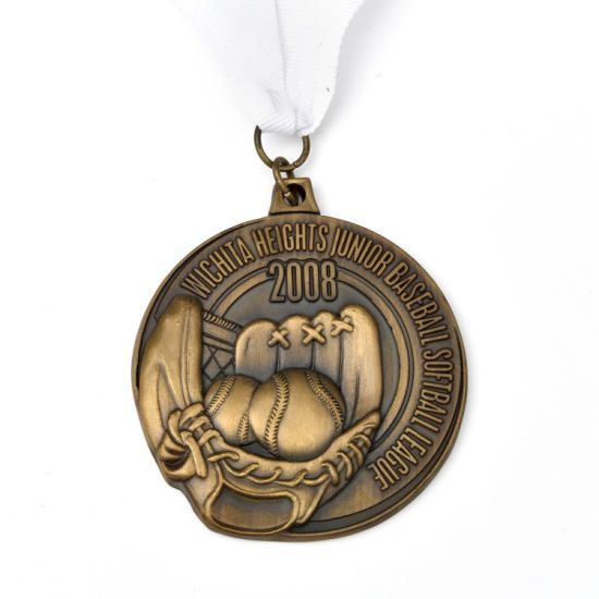 High Quality Zinc Alloy Metal Award Medal with Ribbon