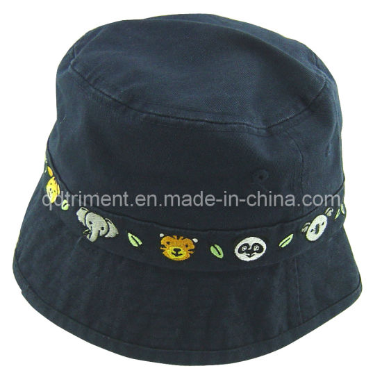 66b4987631934 Washed Binding Embroidery Twill Leisure Fishing Bucket Hat (TMBT00492)  pictures   photos