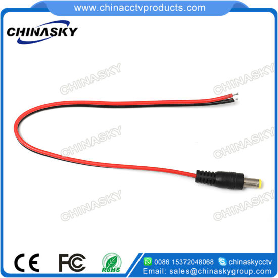 DC PIGTAIL Power Plug 5.5 x 2.1mm to bare ends for CCTV Cable 0.3m