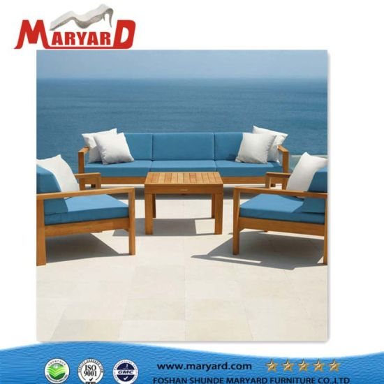 China High Quality Teak Wood Sofa Sets New Outdoor Patio Furniture ...
