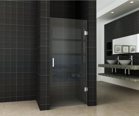 Easy Clean 8mm Toughened Glass Bathroom, Shower Stall Glass Doors Clean