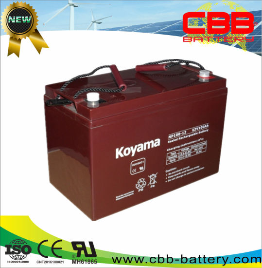 High Quality 100ah 12V Solar Battery Lead Acid AGM Battery pictures & photos