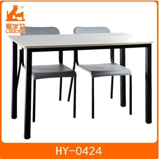 Double Child Study Table And Chairs Of School Furniture