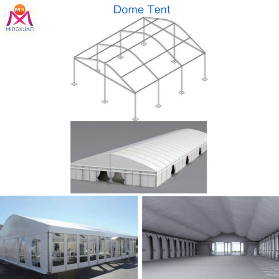 Waterproof PVC Big Event Clear Span Arcum Dome Tent