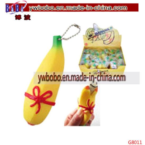 China Wedding Gifts Plastic Toy Banana Keychain Best Promotional