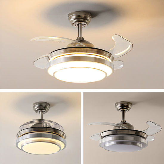 Simple Easy Install LED Fan Lamp for Drawing Room pictures & photos