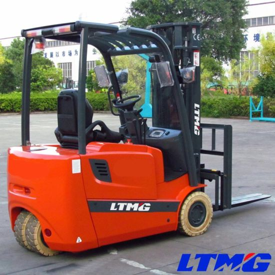 Ltmg Warehouse Narrow Aisle Forklift 3-Wheel Electric Forklift Truck 1.6 Ton 1.8 Ton 2 Ton Battery Forklift with Solid Tires