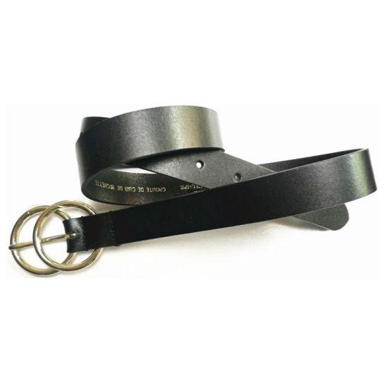 Customized Simple Design Black Color Geuine Leather Women's Accessories Belt
