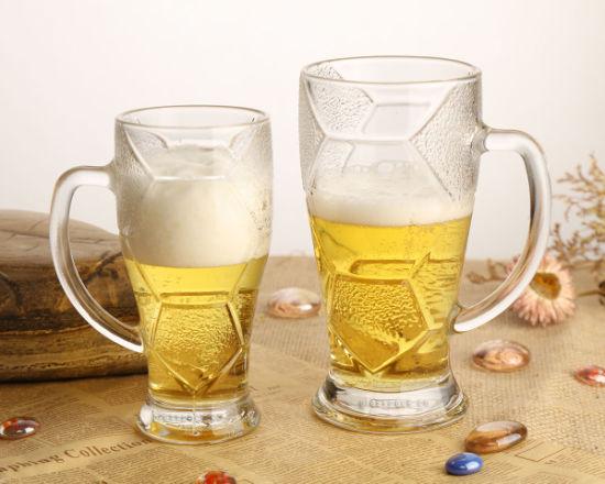 Beer Drinking Glassware Drinking Tumbler Pilsener Beer Cup with Handle