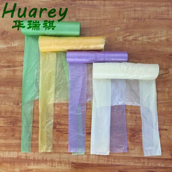 HDPE T-Shirt Plastic Garbage Handle Tie Disposable Trash Bag for Japan Market