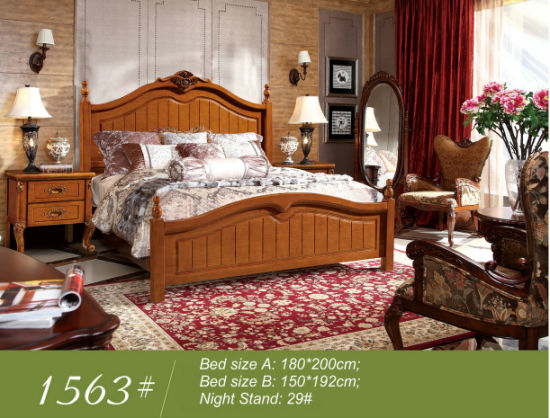 Ikea Bedroom Sets, America Bed, Wooden Bed (1563) pictures & photos