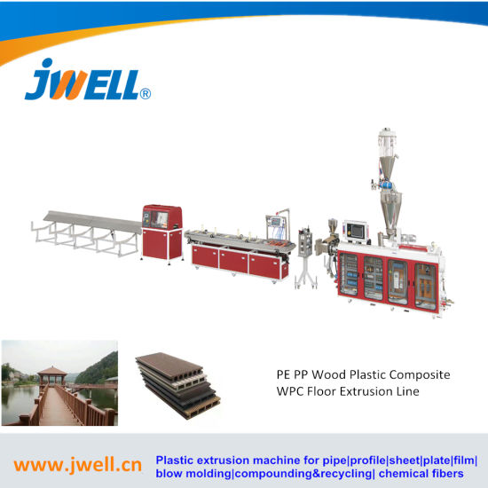 WPC Wall Panel, Pvcprofile, PP/PE Wood Plastic Profile Extrusion Making Machine