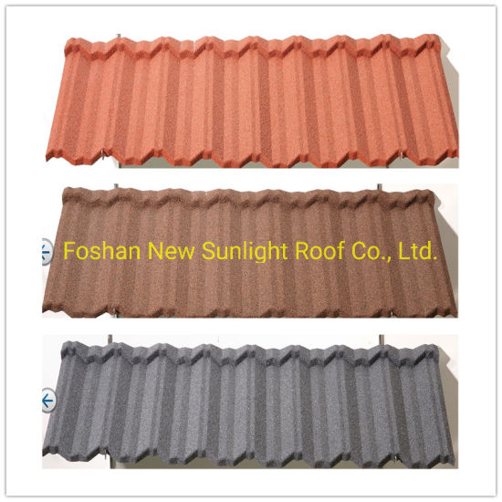 China New Zealand Design Lightweight Sun Stone Coated Zinc Metal Roofing Tiles Wholesale China Building Material Roof Tiles