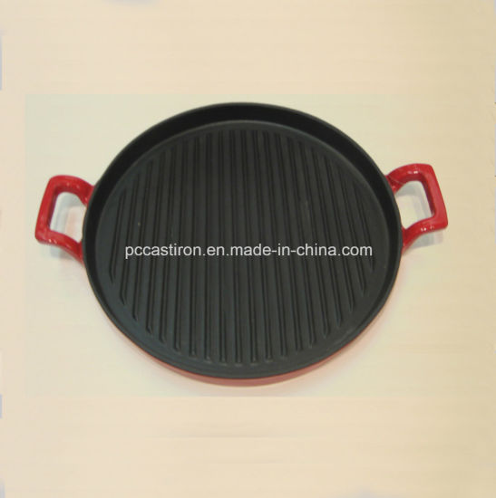 Preseasoned Cast Iron Pizza Griddle Pan From China pictures & photos