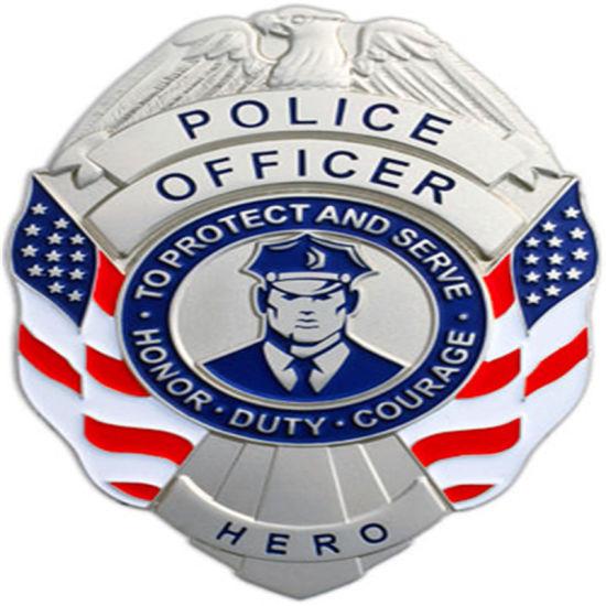 High Quality Wholesale Customized Police Badge Lanyard Aluminum Army Awards
