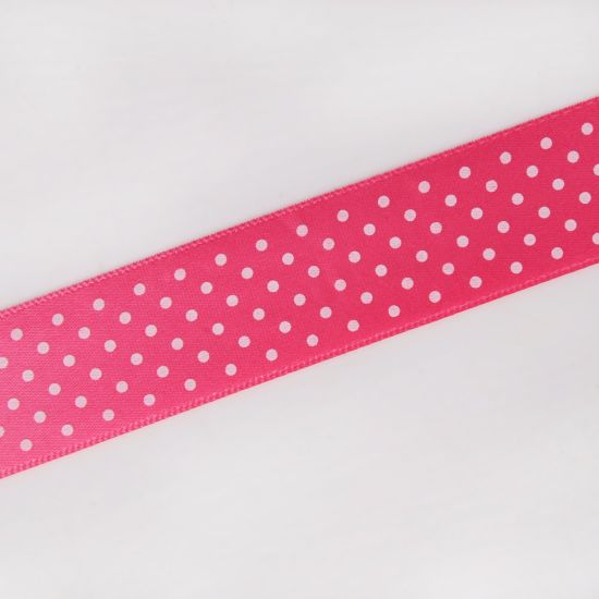 59704d4dcd66 China 25mm Pink Polka Dots Printed Satin Ribbon - China Printed ...