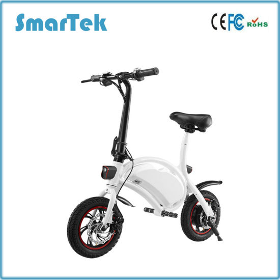 Smartek New Youth Version Velo City Bicycle Electric Folding Push Bicycle Bike High Speed Pit Bike Bicicleta Scooter Ebike with 12inch Fat Tire S-013 pictures & photos