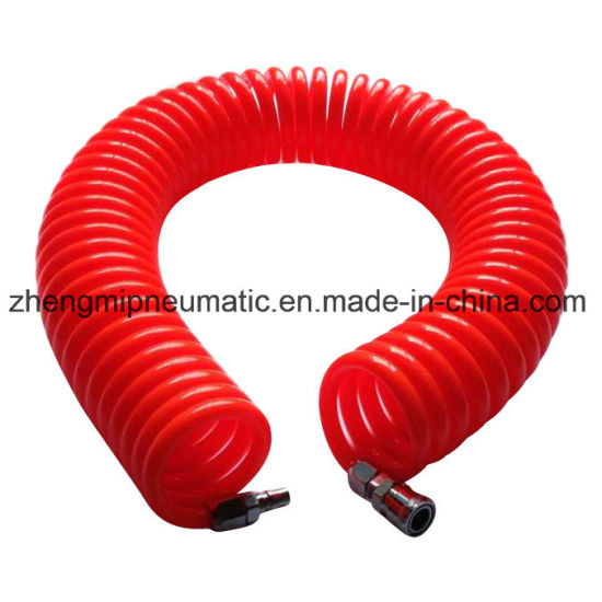 Crystal Orange100% PU Recoil Air Tube with Quick Connectors (6.5*10mm) pictures & photos